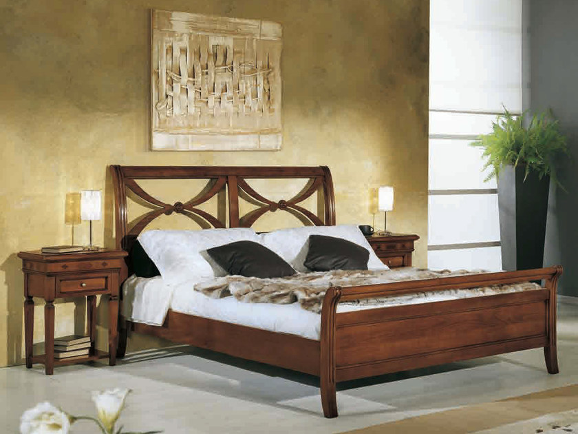 Solid wood double bed CASANOVA | Bed by Arvestyle