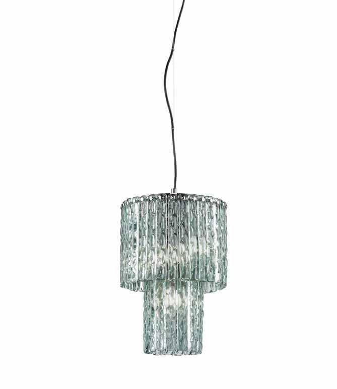 Crystal pendant lamp CASCADE 10 by Euroluce Lampadari
