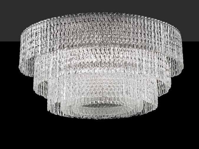 Crystal ceiling lamp CASCADE PL 84 by Euroluce Lampadari