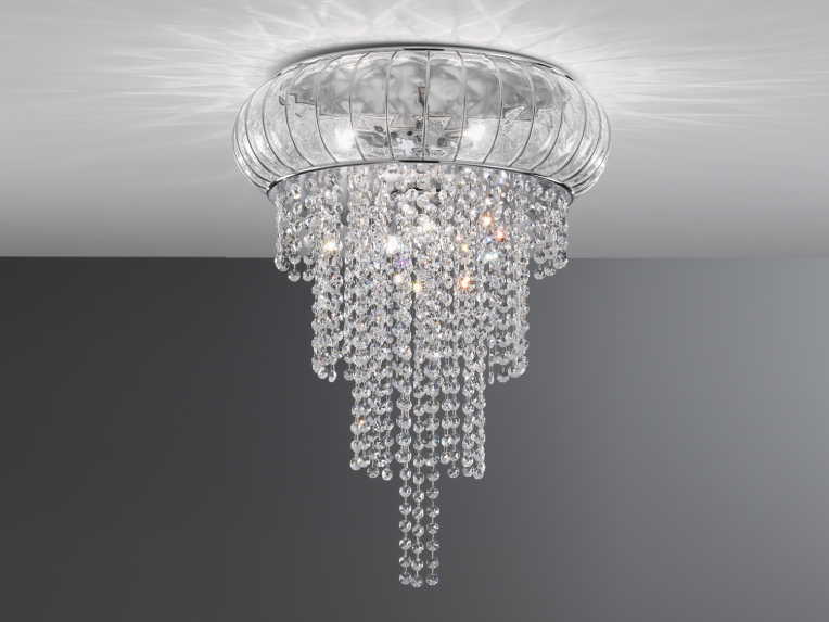 Murano glass ceiling lamp CASCATA SC 366 by Siru