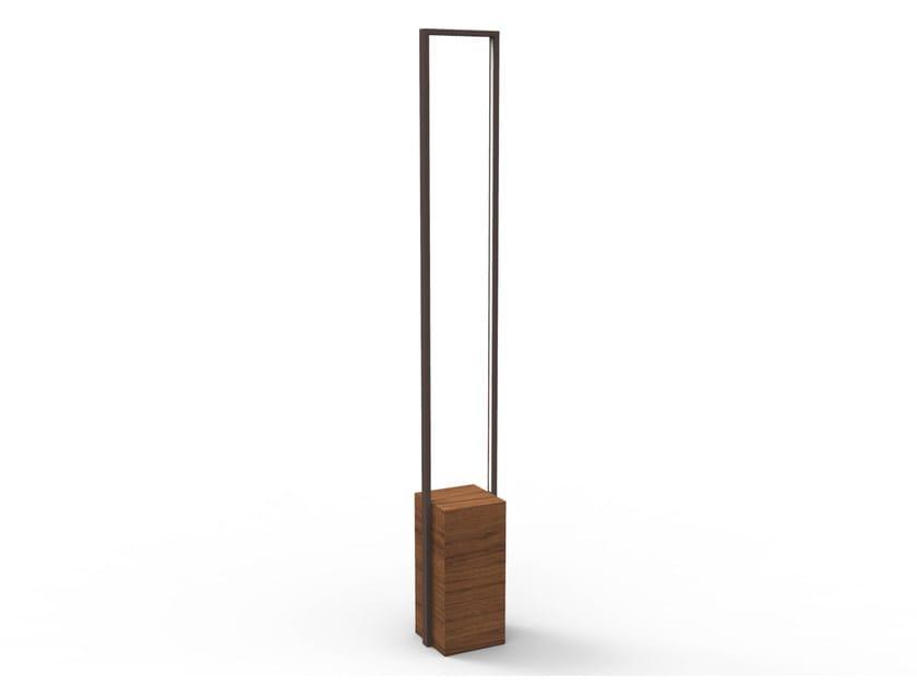 Lampada da terra per esterno a LED in iroko CASILDA | Lampada da terra per esterno by Talenti