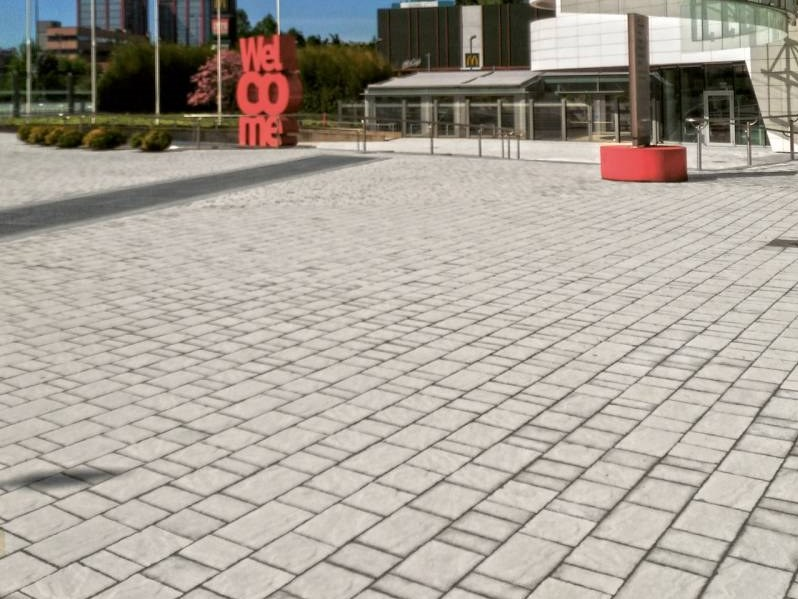 Concrete paving block CASSIA - NATURA by RECORD - BAGATTINI