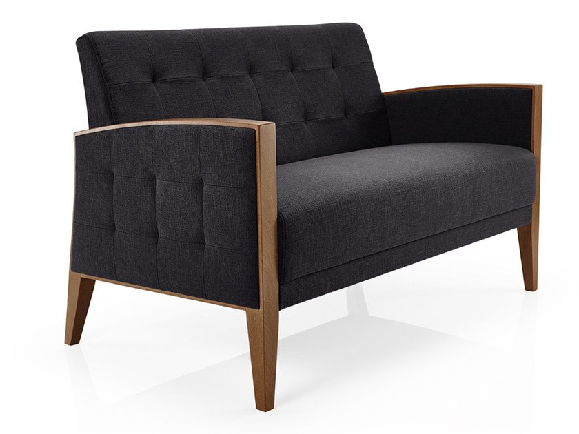Tufted fabric small sofa CASSIS   Small sofa by JMS