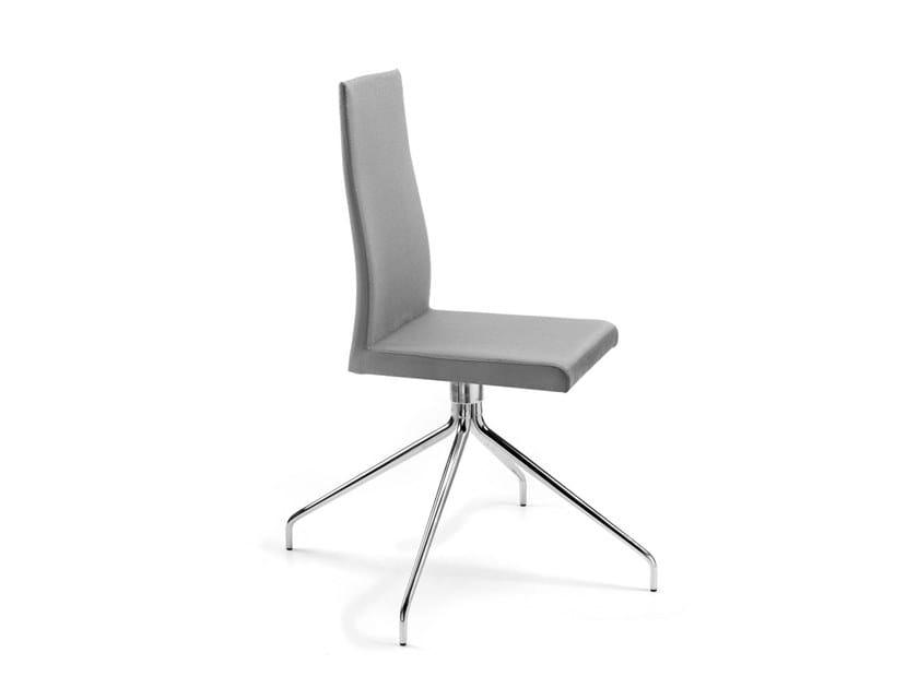 Upholstered trestle-based chair CASTELFRANCO   Trestle-based chair by Trevisan Asolo
