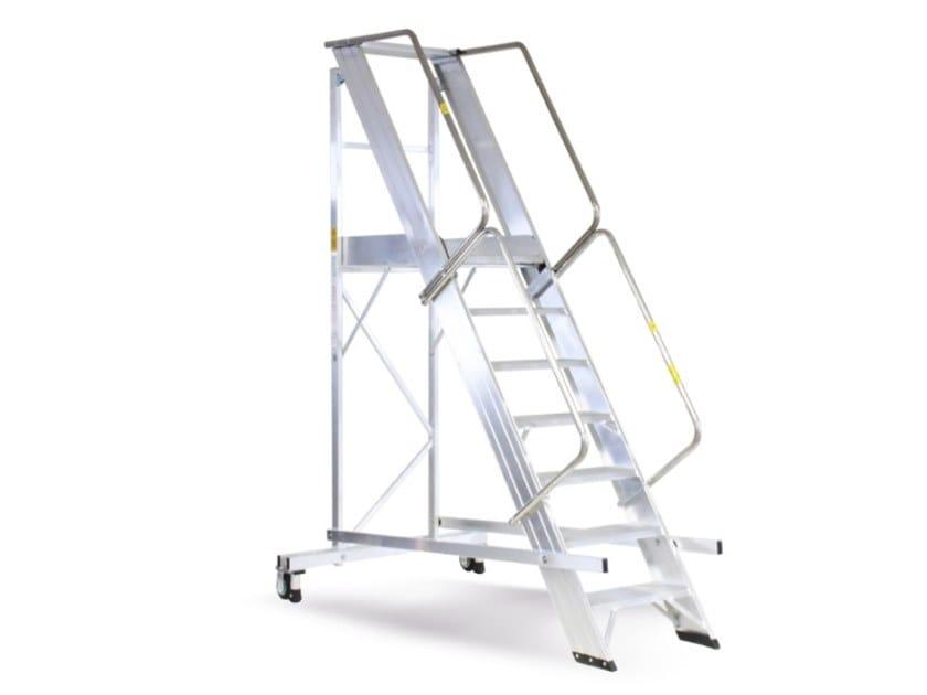 Aluminium heavy duty ladder CASTELLANA MAXI by SVELT