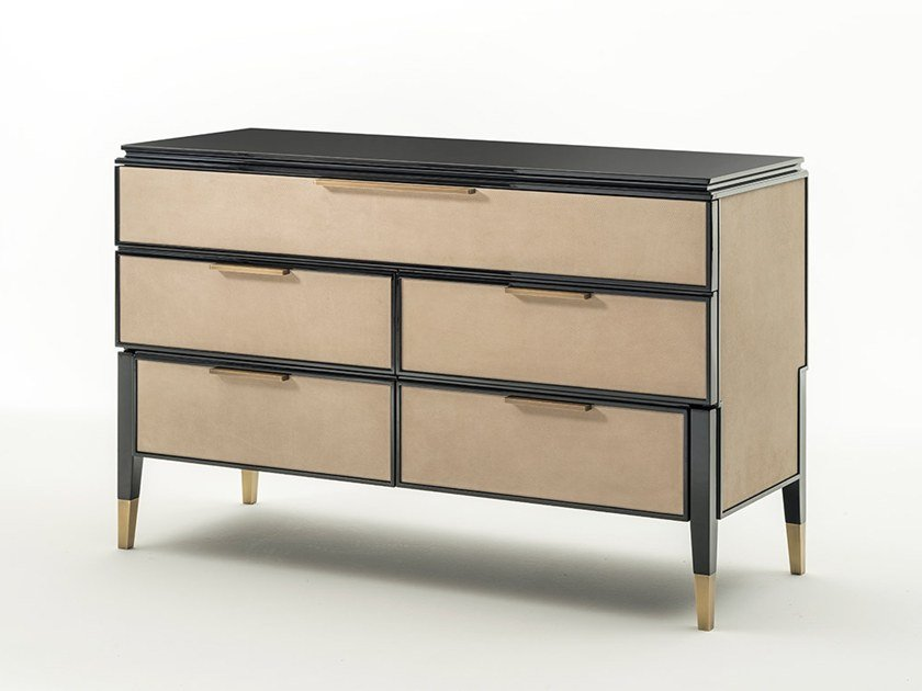 Leather chest of drawers CASTELLO | Chest of drawers by OAK
