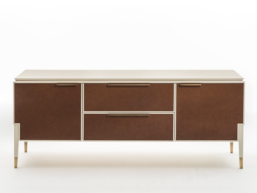 Leather sideboard with drawers CASTELLO | Sideboard by OAK