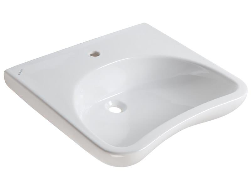 Countertop porcelain washbasin CASUAL | Washbasin by Ponte Giulio