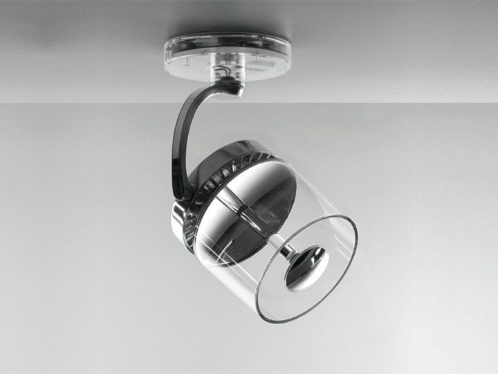 LED ceiling die cast aluminium spotlight CATA CATADIOPTRIC | Ceiling spotlight by Artemide