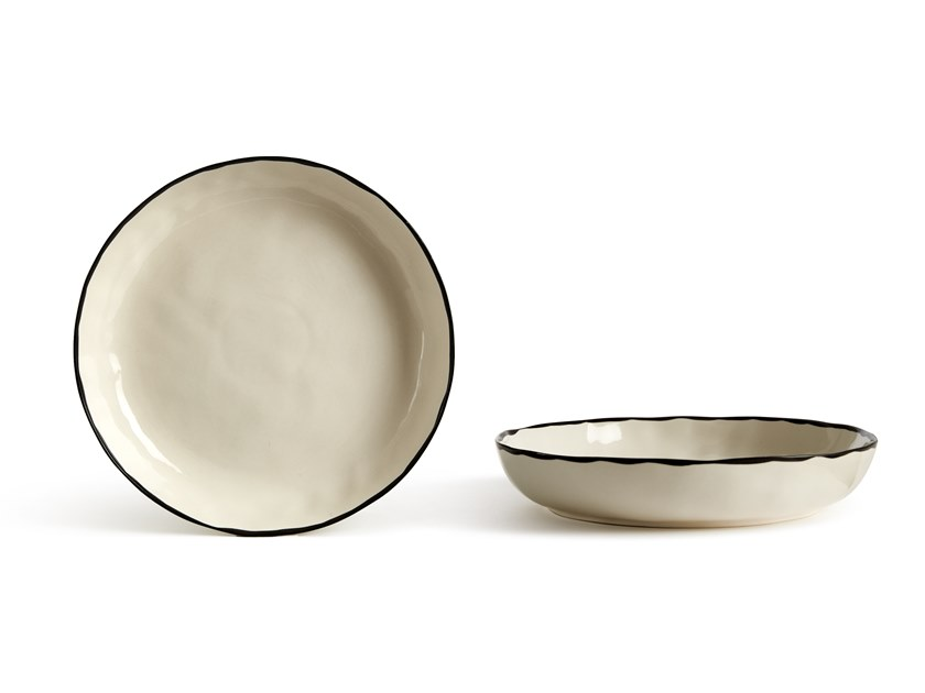 Porcelain stoneware deep plate CATALINA BORDO | Deep plate by Fill