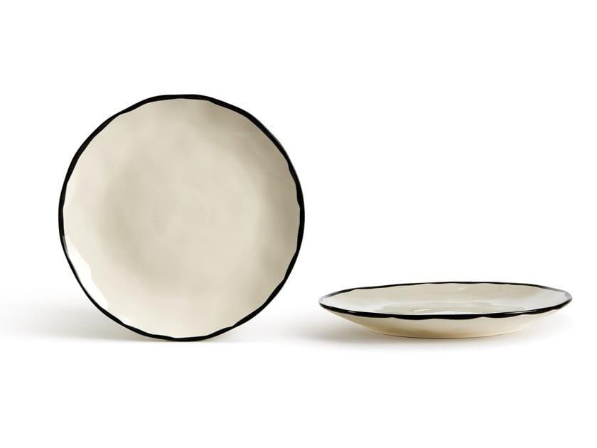 Porcelain stoneware dinner plate CATALINA BORDO   Dinner plate by Fill
