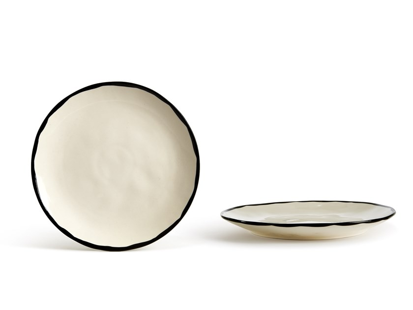 Porcelain stoneware plate CATALINA BORDO | Plate by Fill