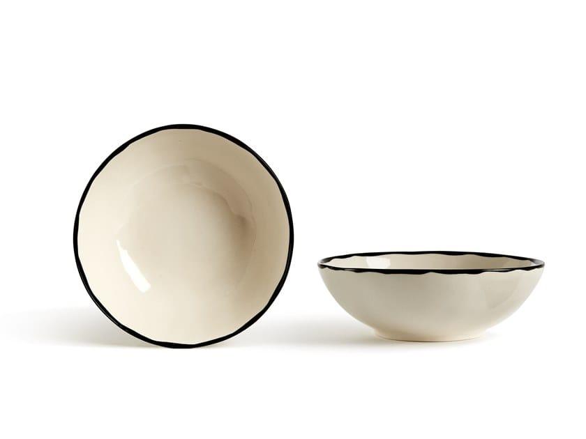Porcelain stoneware serving bowl CATALINA BORDO   Serving bowl by Fill