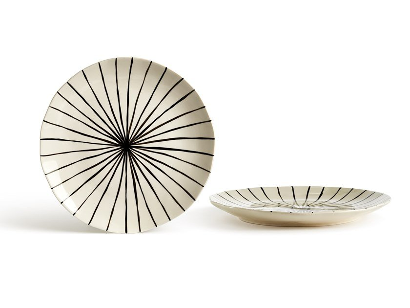 Porcelain stoneware dinner plate CATALINA LINEA | Dinner plate by Fill