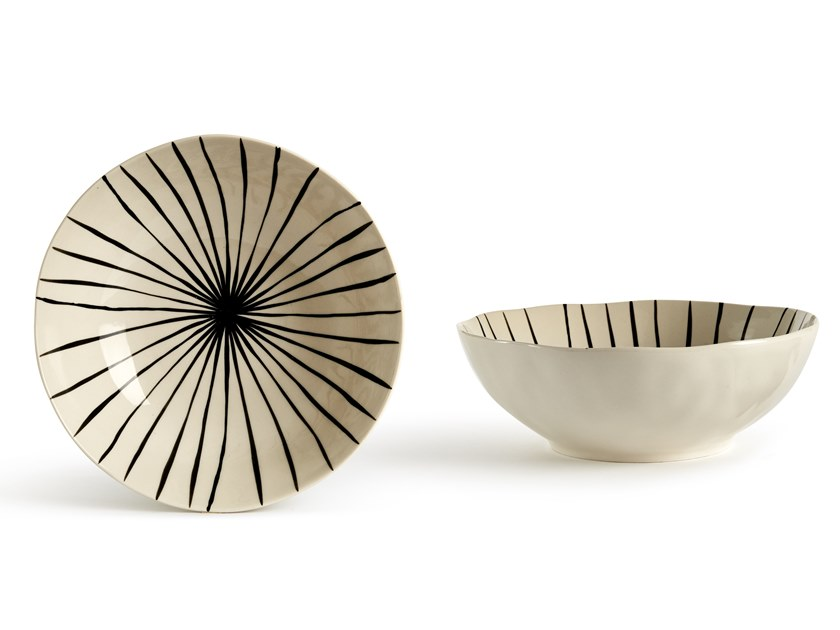 Porcelain stoneware salad bowl CATALINA LINEA | Salad bowl by Fill