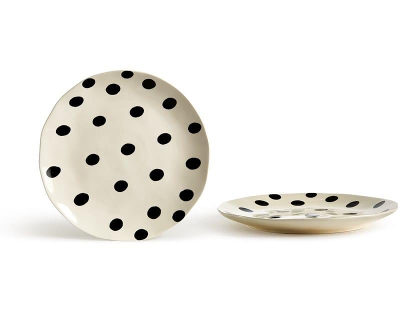 Porcelain stoneware dinner plate CATALINA POIS | Dinner plate by Fill