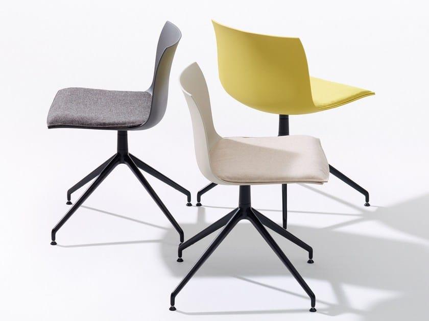 Trestle-based polypropylene chair CATIFA 53 - NEW EDITION | Polypropylene chair by arper