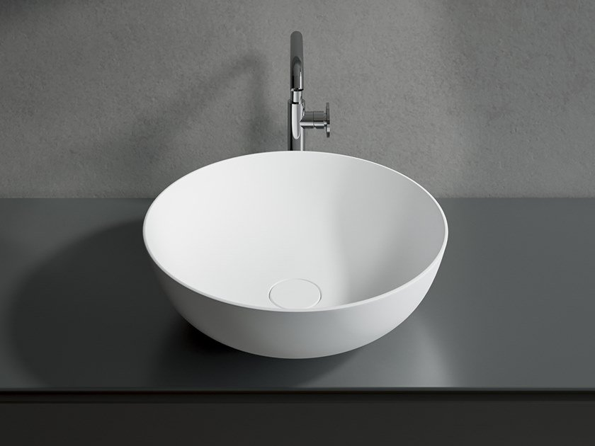 Countertop round washbasin CATINO by Edoné by Agorà