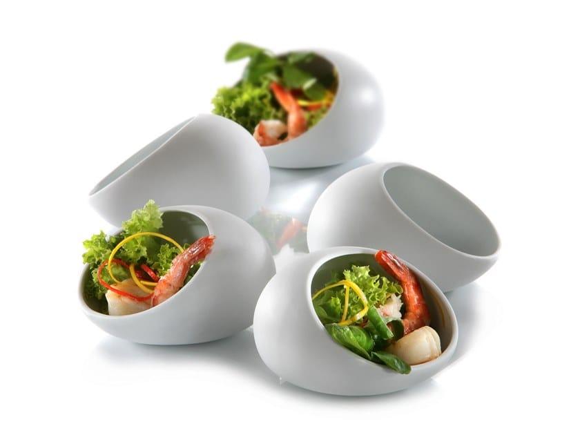 Porcelain serving bowl CAVE | Porcelain serving bowl by Zieher