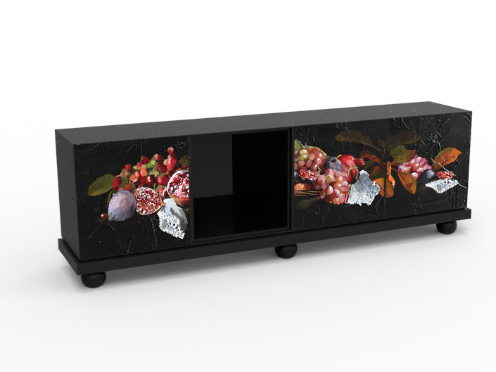 Melamine-faced chipboard sideboard with doors CB-2402 by MOMENTI