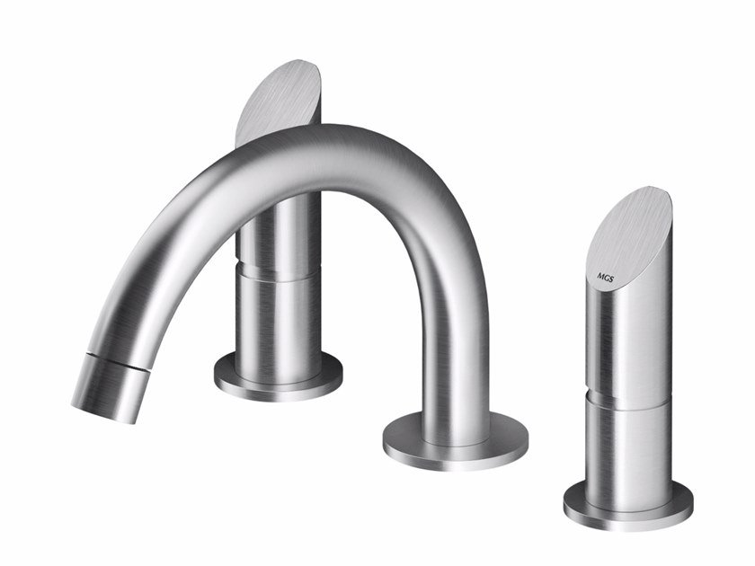 3 hole countertop stainless steel washbasin mixer CB203 | Washbasin mixer by MGS