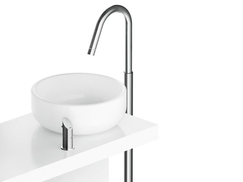 Floor standing single handle stainless steel washbasin mixer CB219 | Floor standing washbasin mixer by MGS