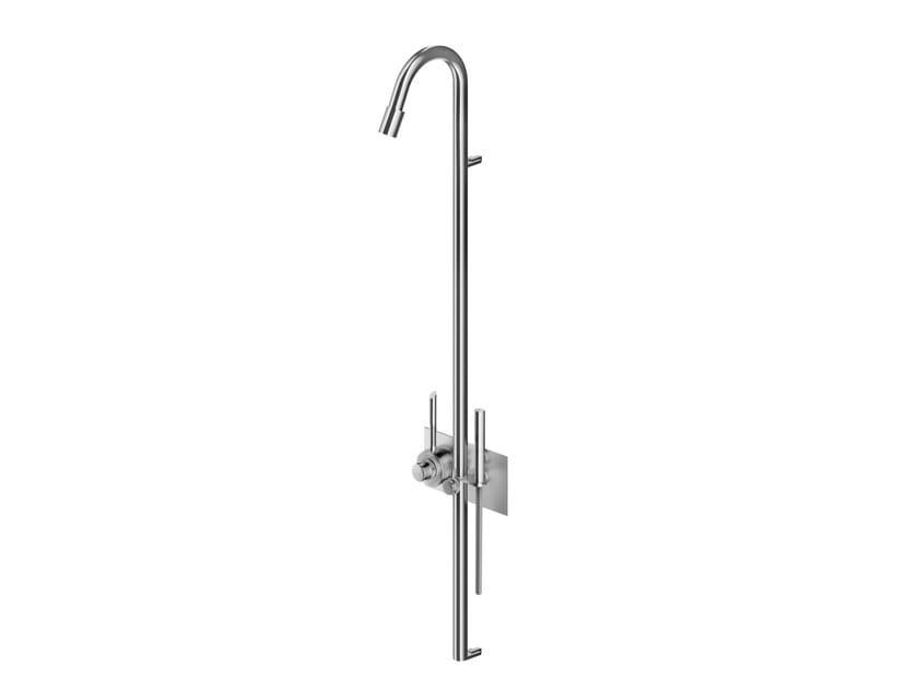 Colonne de douche thermostatique en acier inoxydable avec douchette CB404 | Colonne de douche by MGS