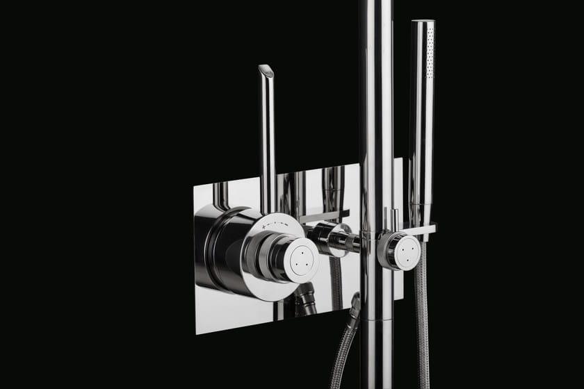 Colonna doccia termostatica in acciaio inox con doccetta cb404