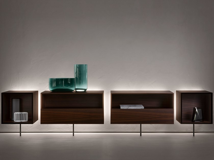 Wooden sideboard with integrated lighting CCCUBE by Natevo