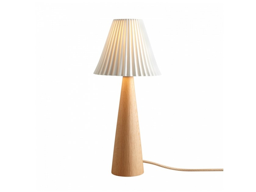 English oak table lamp with fixed arm with dimmer CECIL CONE | English oak table lamp by Original BTC