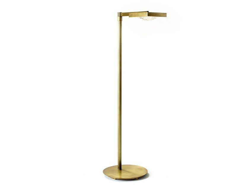 Brass floor lamp CECILE | Floor lamp by MARIONI