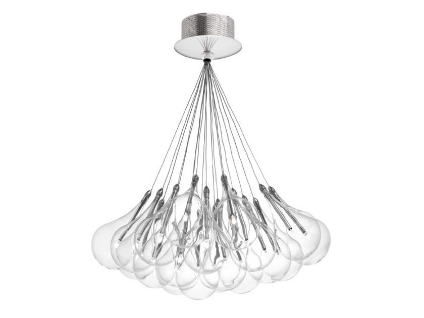 LED glass ceiling lamp DROP LED | Ceiling lamp by ALMA LIGHT