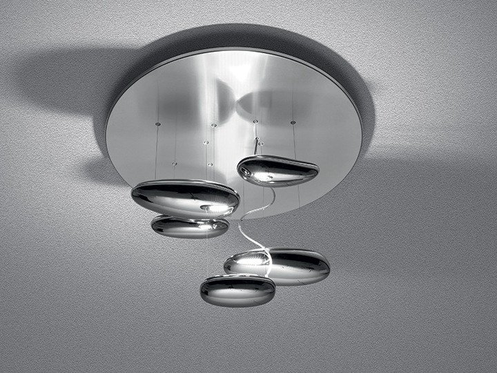 Artemide Mercury Mini Ceiling Lamp Indirect Light Stainless Steel