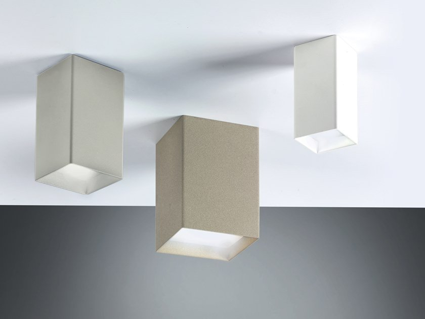 LED metal ceiling lamp CUBICK | Ceiling lamp by Cattaneo