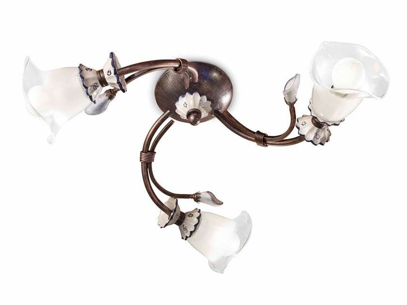 Ceramic ceiling lamp with fixed arm VICENZA | Ceiling lamp by FERROLUCE