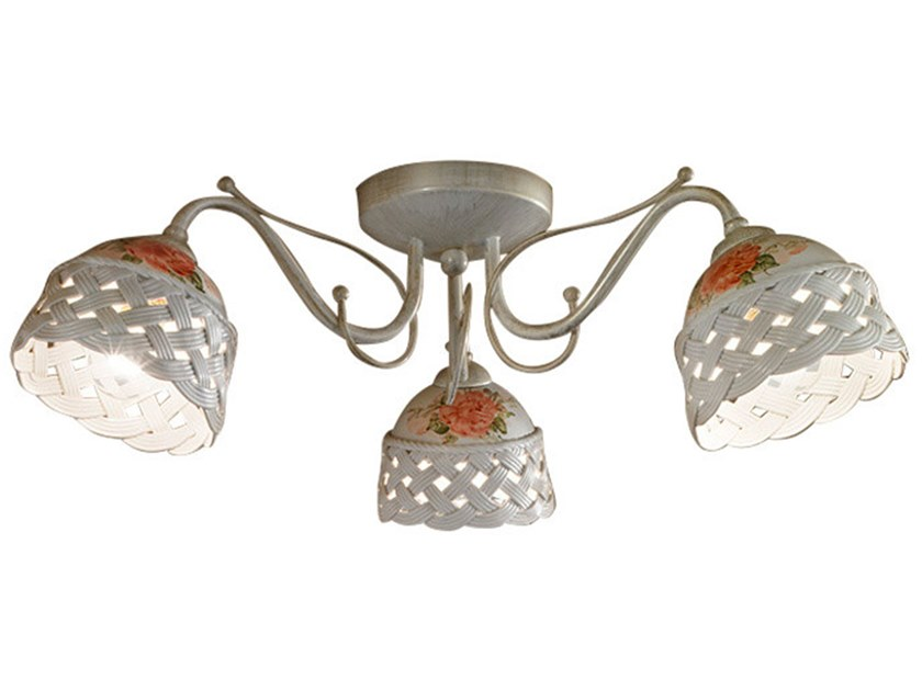 Ceramic ceiling lamp with fixed arm VERONA   Ceiling lamp by FERROLUCE