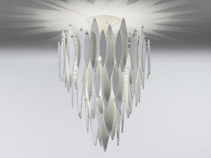 Murano glass pendant lamp ICE RAIN | Pendant lamp by IDL EXPORT