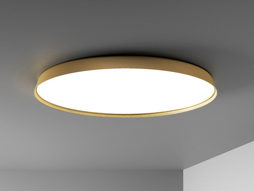 LED extruded aluminium ceiling lamp COMPENDIUM PLATE | Ceiling lamp by LUCEPLAN
