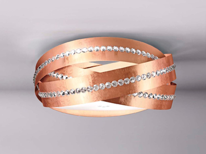 Metal ceiling light with crystals ESSENTIA | Ceiling lamp by Marchetti