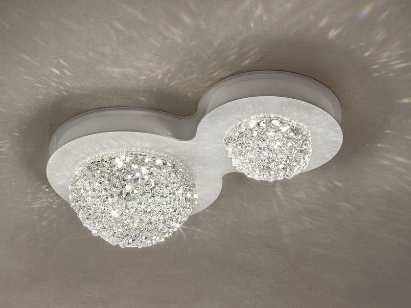 LED direct light crystal ceiling lamp BOOL | Ceiling lamp by Masiero