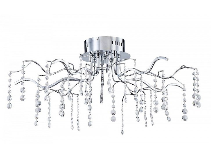 LED chrome plated ceiling lamp with crystals SPRING | Ceiling lamp by MAYTONI