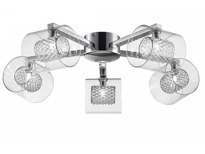 Glass ceiling lamp with crystals BELINDA   Ceiling lamp by MAYTONI
