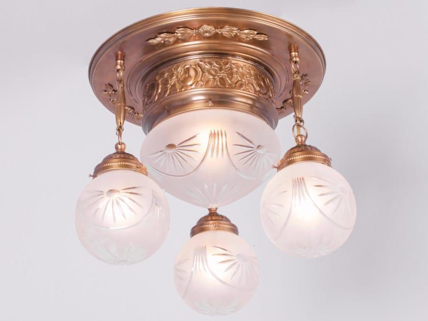 Lampada da soffitto in ottone PECS | Lampada da soffitto by Patinas Lighting