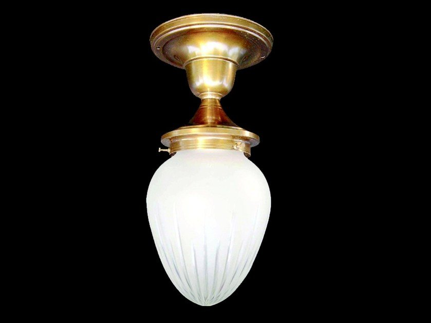 Direct light brass ceiling lamp GENOA | Ceiling lamp by Patinas Lighting