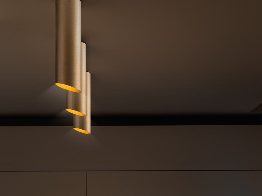 Glass-fibre ceiling lamp SLICE | Ceiling lamp by Quadrifoglio