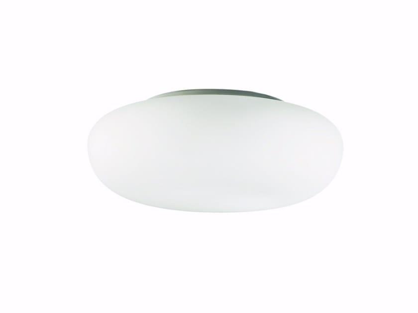 Lampada da soffitto a luce indiretta in vetro soffiato glenn