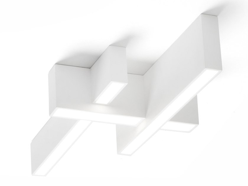 Plaster ceiling lamp MAGNESIA | Ceiling lamp by Sforzin