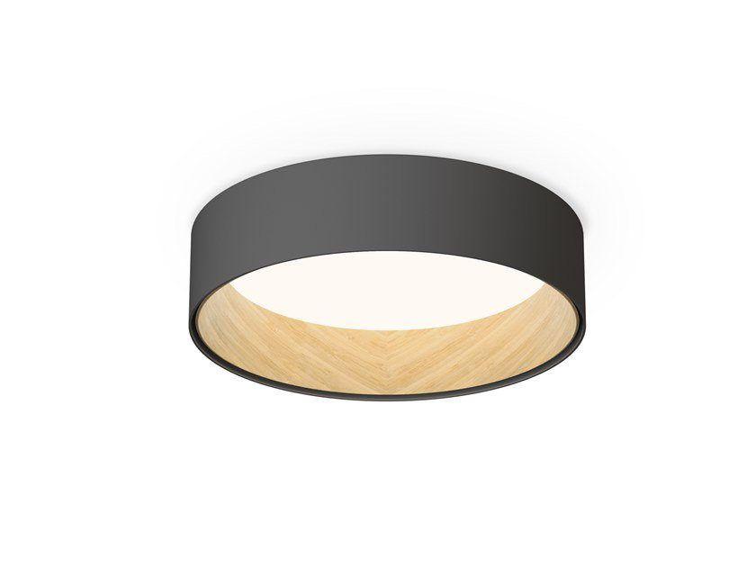 LED aluminium and wood ceiling lamp DUO | Ceiling lamp by Vibia