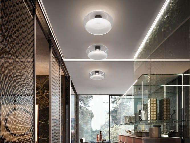Plafoniera a LED in vetro FOLD | Plafoniera by Cangini & Tucci