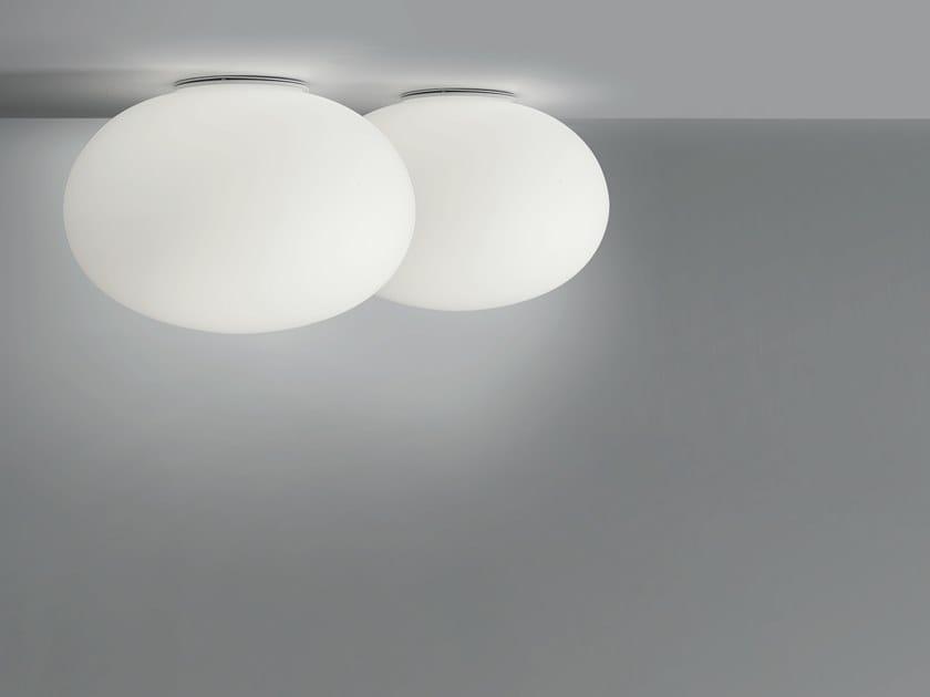 Plafoniere Vetro Soffiato : Plafoniera in vetro soffiato mercury collezione
